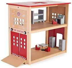 Дървена пожарна станция -