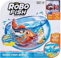 Плуваща рибка с променящ се цвят с аквариум - Robo Fish -
