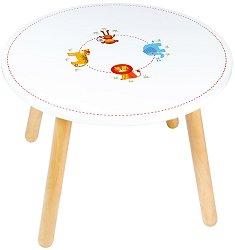 Детска дървена маса - Джунгла -