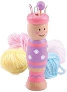 Направи сама - Френско плетиво с дървена кукла -