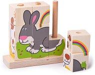 Кубчета за нанизване - Домашни животни - играчка