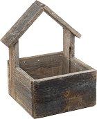 Дървена кашпа - House Brown