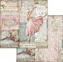 Хартия за скрапбукинг - Балерина