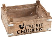 Дървена кашпа - Fresh Chicken
