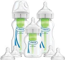 Бебешки шишета за хранене с широко гърло - Options+ -