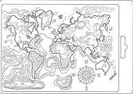 Силиконова форма за моделиране - Карта на света