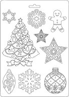 Силиконови форми за моделиране - Коледна декорация