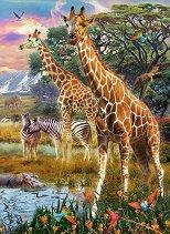 Жирафи в Африка - пъзел