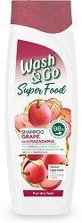 Wash & Go Super Food Grape & Macadamia Shampoo - масло