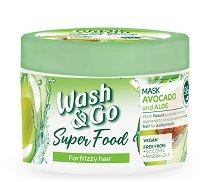 Wash & Go Super Food Avocado & Aloe Mask - маска