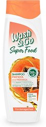 Wash & Go Super Food Papaya & Moringa Shampoo - червило
