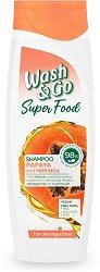 Wash & Go Super Food Papaya & Moringa Shampoo - шампоан
