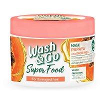Wash & Go Super Food Papaya & Moringa Mask - маска