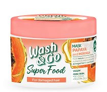 Wash & Go Super Food Papaya & Moringa Mask - шампоан