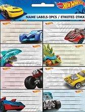 Етикети за тетрадки - Hot Wheels - раница
