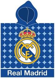 Детски халат тип пончо - ФК Реал Мадрид -