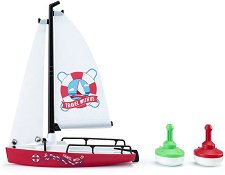 Ветроходна лодка и шамандури - количка