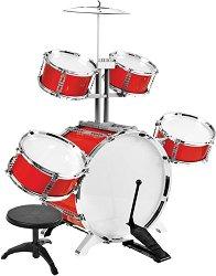 Комплект барабани със столче - играчка