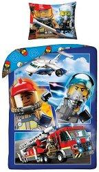 Детски двулицев спален комплект от 2 части - LEGO: City - играчка
