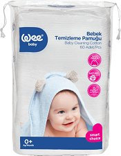 Памучни тампони за почистване на бебешка кожа -