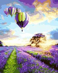 Рисуване по номера с акрилни бои - Полет над полята