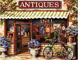 Рисуване по номера с акрилни бои - Антикварен магазин