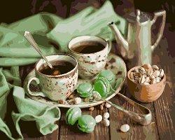 Рисуване по номера с акрилни бои - Tea o'clock