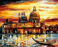 Рисуване по номера с акрилни бои - Романтични пътешествия