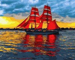 Рисуване по номера с акрилни бои - В спокойни води