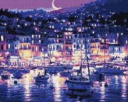Рисуване по номера с акрилни бои - Будни нощи
