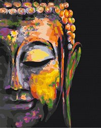 Рисуване по номера с акрилни бои - Буда