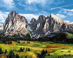 Рисуване по номера с акрилни бои - В планината