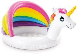 Надуваем бебешки басейн със сенник - Еднорог - басейн