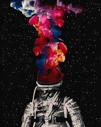 Рисуване по номера с акрилни бои - Космонавт