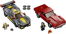 LEGO: Speed Champions - Chevrolet Corvette C8.R и Chevrolet Corvette 1968 - играчка