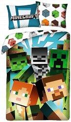 Детски двулицев спален комплект от 2 части - Minecraft: Colour - раница
