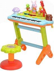 Електронен синтезатор с 22 клавиша и стойка -