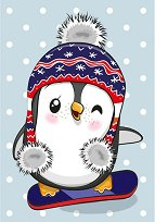 Пингвинче с шапка