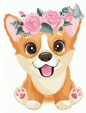 Рисуване по номера - Кученце - играчка