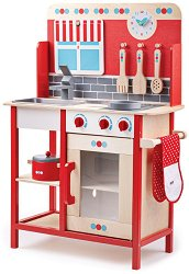 Детска дървена кухня - играчка