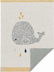 Бебешко памучно одеяло - Little Water: Whale -