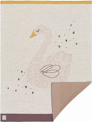 Бебешко памучно одеяло - Little Water: Swan -