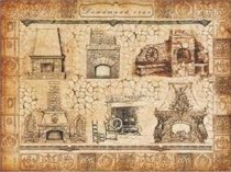 Декупажна хартия - Камини