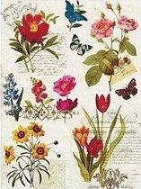 Декупажна хартия - Цветя