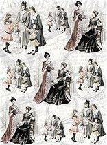 Декупажна хартия - Викториански дами