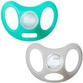 Залъгалки от силикон с ортодонтична форма - Advanced Sensitive -