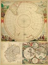 Декупажна хартия - Карта на света