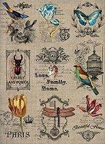 Декупажна хартия - Птици и цветя