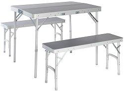 Къмпинг маса с 2 пейки - Granite 90 Bench Set