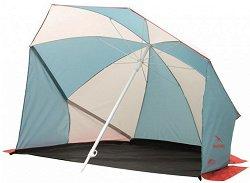 Плажен чадър 2в1